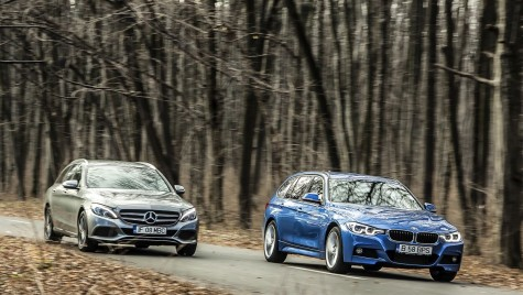 BMW 320d Touring vs Mercedes C 220 d T-Modell – Pulover vs hanorac