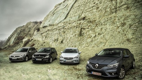 Test comparativ Renault Megane vs Opel Astra, VW Golf, Peugeot 308
