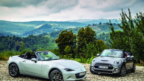 Test Mazda MX-5 vs Mini Cooper S Cabrio