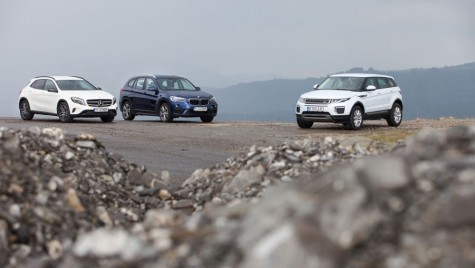 Test BMW X1 vs Mercedes GLA vs Range Rover Evoque