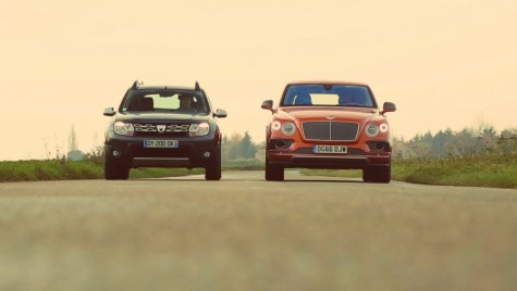 Cel mai nebun test comparativ al anului – Dacia Duster vs Bentley Bentayga