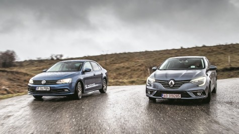 Test Renault Megane Sedan 1.5 dCi vs VW Jetta 2.0 TDI