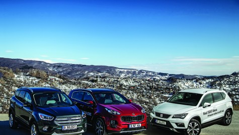 Test Ford Kuga vs Kia Sportage vs Seat Ateca