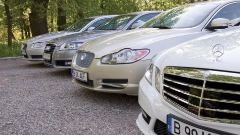 Test comparativ: Mercedes-Benz Clasa E vs. A6 vs. XF vs. S80