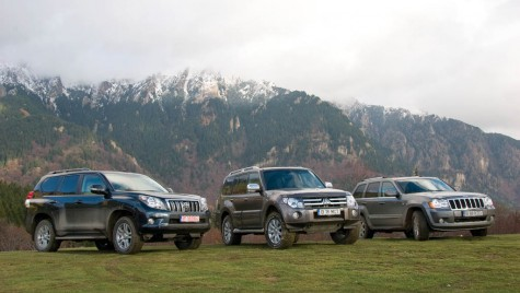 Test comparativ Toyota Land Cruiser vs. Mitsubishi Pajero vs. Jeep Grand Cherokee
