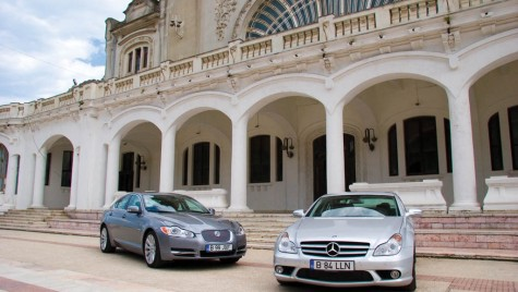 Test comparativ Jaguar XF vs. Mercedes-Benz CLS