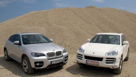 Test comparativ BMW X6 vs. Porsche Cayenne diesel