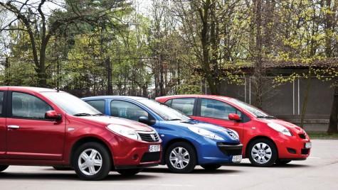 Peugeot 206+ vs. Dacia Sandero vs. Toyota Yaris