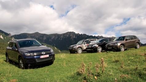 Volkswagen Touareg vs. BMW X5 vs. Mercedes-Benz Clasa M vs. Mitsubishi Pajero
