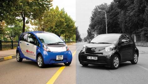 Comparativ electrizant: Toyota iQ vs Mitsubishi i-MiEV