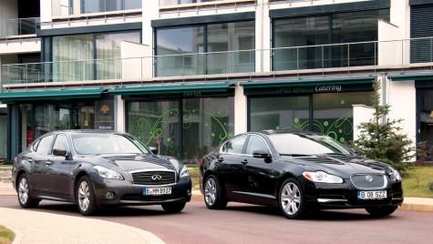 Infiniti M 30d vs. Jaguar XFSD