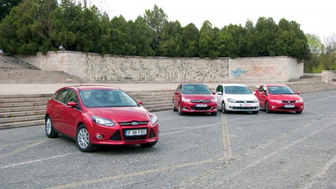 Ford Focus vs. Citroen C4 vs. VW Golf vs. Honda Civic