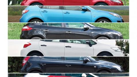 Ford Focus vs. Megane vs. Leon vs. Auris vs. i30 vs. Mazda 3