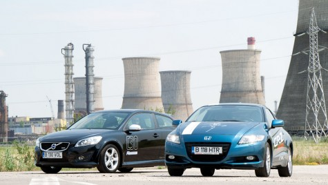 Test comparativ – Honda CR-Z Hybrid vs. Volvo C30 D2