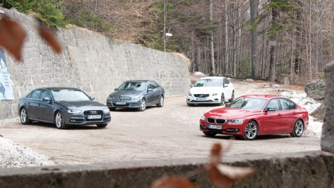 BMW Seria 3 vs. Audi A4 vs. Mercedes-Benz Clasa C vs. Volvo S60