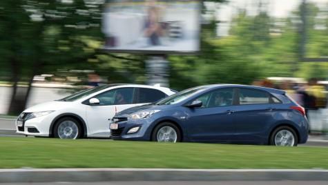 Test comparativ – Hyundai i30 1.6 GDi vs Honda Civic 1.8 i-VTEC