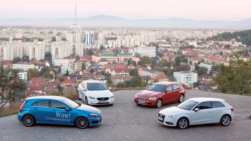Audi A3 vs Seria 1 vs Clasa A vs V40