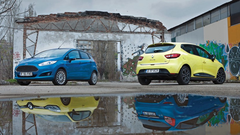 Test comparativ - Ford Fiesta 1.0 EcoBoost vs Renault Clio 0.9 TCe