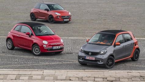 TEST COMPARATIV: smart Forfour versus Opel ADAM versus FIAT 500 C