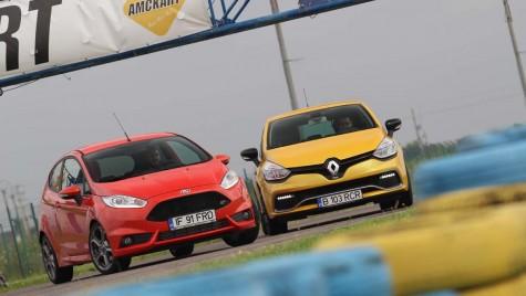 La furat  de zâmbete – Ford Fiesta ST vs Renault Clio RS