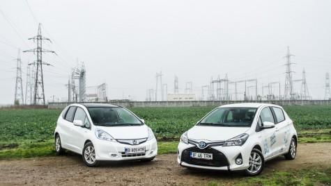 Test de consum: Toyota Yaris Hybrid versus Honda Jazz Hybrid