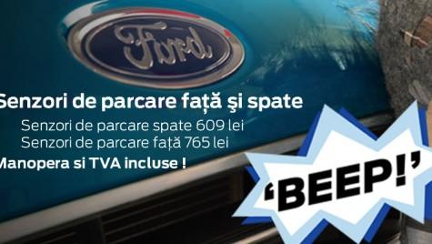 Promoţie Ford România: Senzori de parcare Ford la preţ special