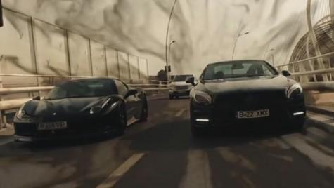 Un Ferrari 458 şi un Mercedes-Benz SL scăpate în libertate prin Bucureşti