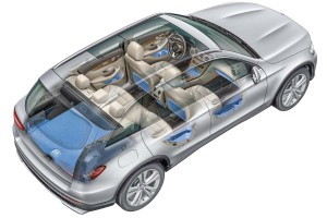 Mercedes-Benz GLC, Kofferraumvolumen, Ablagen und Staufächer im Fahrzeug Mercedes-Benz GLC, luggage capacity, stowage facilities in the interior