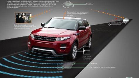 Jaguar Land Rover lucrează la un sistem pentru detectarea gropilor