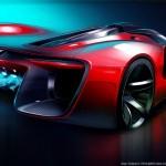 SRT Tomahawk Vision Gran Turismo Concept Rear View Sketch