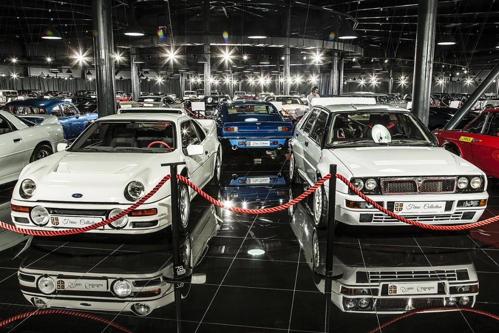 Colţul preferal al subsemnatului. Una lângă alta stau o Lancia Fulvia 1.6HF şi un Ford RS 200. Totuşi, piesa de rezistenţă este un automobil care a făcut legea ani la rândul în campionatul mondial de raliuri - Lancia Delta Integrale Evoluzione. Ion Ţiriac a deţinut o versiune de stradă între anii 1968 şi 1970. Nostalgic, a adăugat această piesă la colecţie.
