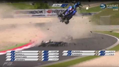 Accident groaznic în Formula 3