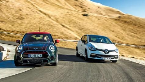 Test Renault Clio RS Trophy versus Mini JCW. Rațiune sau simțire?