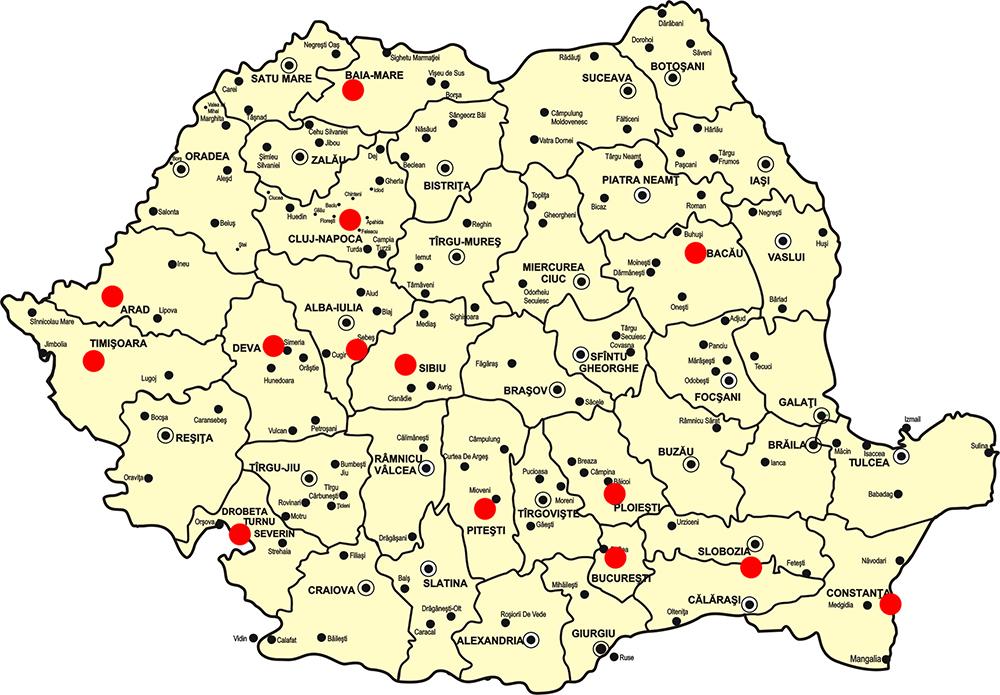 Retaua de alimentare cu curent Romania Cora, Kaufland