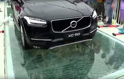 Volvo XC90 testează cel mai lung pod din sticlă!