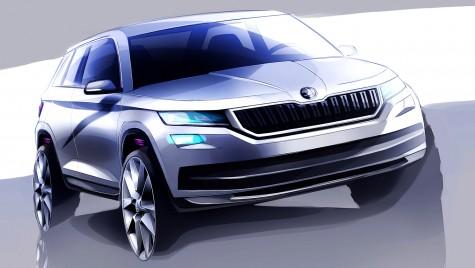 Kodiaq: Primul SUV Skoda dezvăluit în noi schițe oficiale