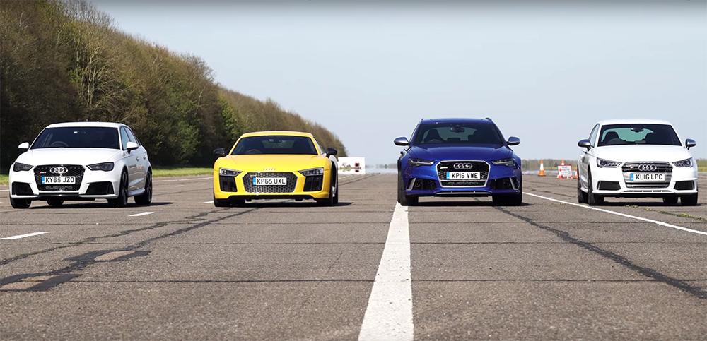 Audi RS sfert de mila