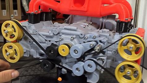 Macheta funcțională a unui motor boxer, la imprimantă 3D!
