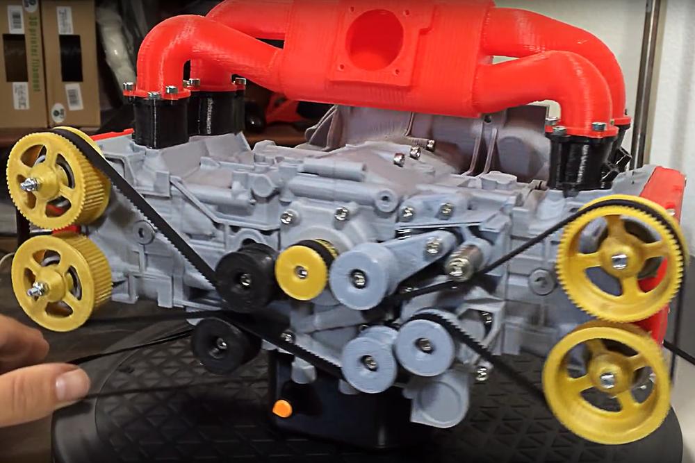 Motor boxer Subaru Impreza WRX macheta