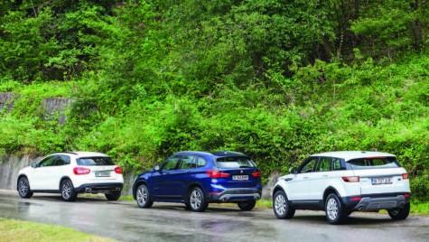 Test comparativ: Range Rover Evoque, Mercedes-Benz GLA, BMX X1