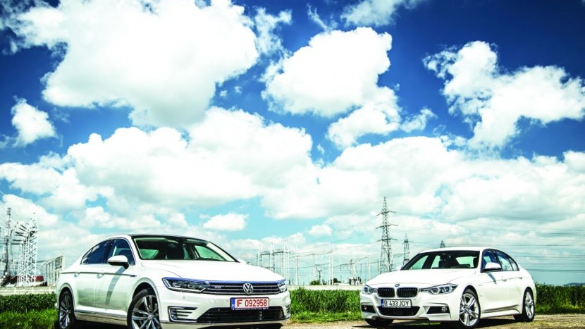 BMW 330e vs Passat GTE