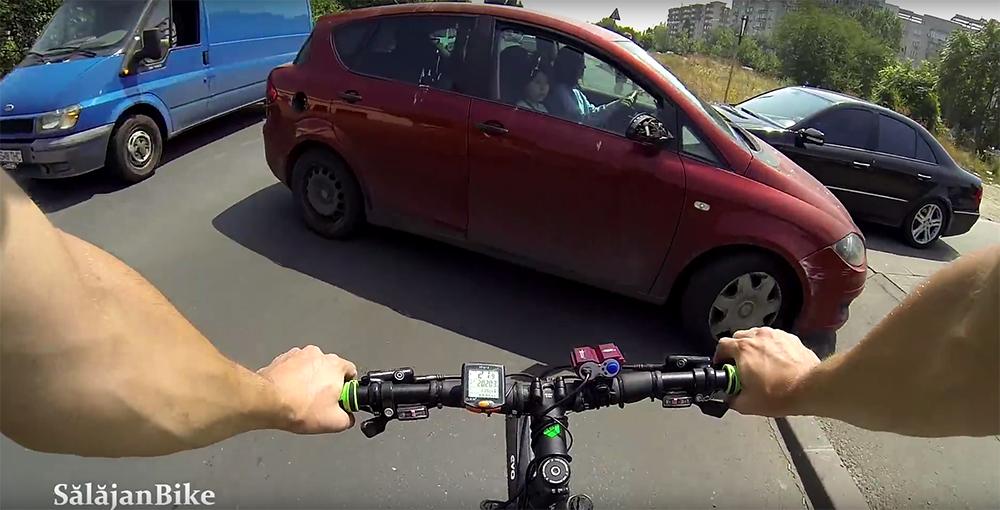 Biciclist vs soferita