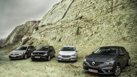 Test comparativ Renault Megane vs Opel Astra, VW Golf, Peugeot 308
