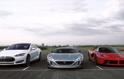 Rimac Concept One vs LaFerrari vs Tesla S P90D