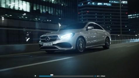 Spot spectaculos cu Mercedes CLA, filmat în România