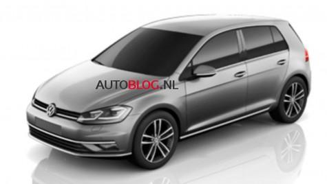 Primele imagini cu Volkswagen Golf 7 facelift