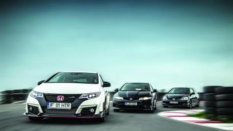 Test: trei generații Honda Civic Type R
