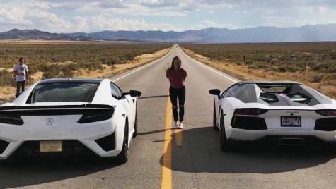 """Honda NSX face """"praf"""" Lamborghini Aventador – linuța cu surprize"""