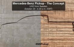 Primul pick-up Mercedes va fi dezvăluit pe 25 octombrie