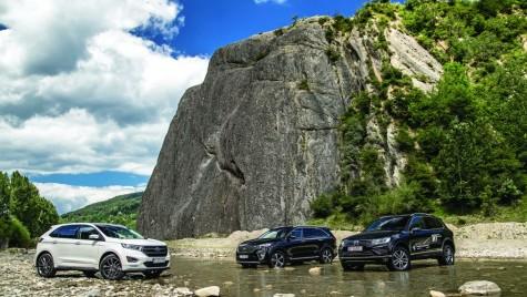 Test Ford Edge, Kia Sorento, VW Touareg